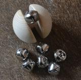 Kreuzrollen Bells  20mm durchmesser Silber