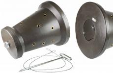 Kirrkegel mit Bodenanker für 18 Kg Kirrgut