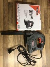 Gehörn - Abschlagevorrichtung mit führung und Spezialsägeblatt und E-Säge 350 Wat